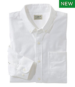Comfort Stretch Oxford Shirt, Traditional Fit, Solid